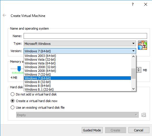 virtualbox 32 bits windows 7